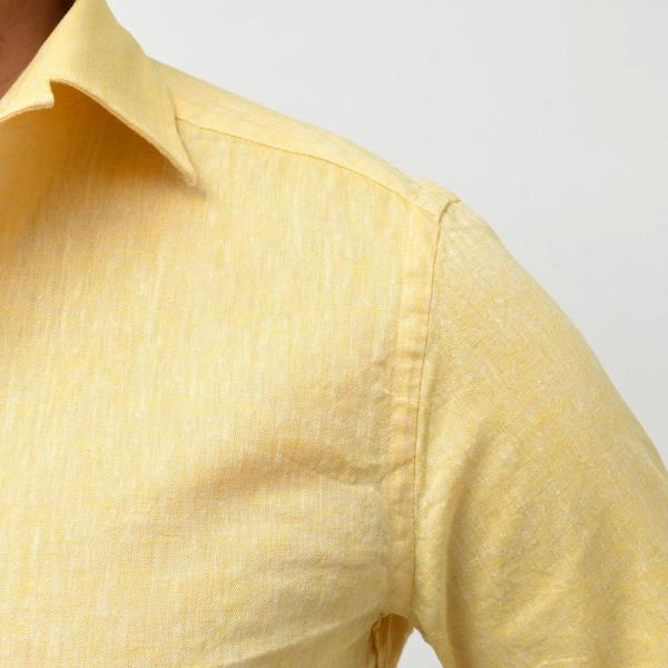 GUY ROVER ギローバー リネン コットン ソリッド イタリアンカラーシャツ|realclothing|05