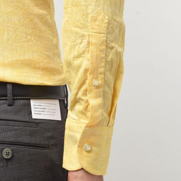 GUY ROVER ギローバー リネン コットン ソリッド イタリアンカラーシャツ|realclothing|06