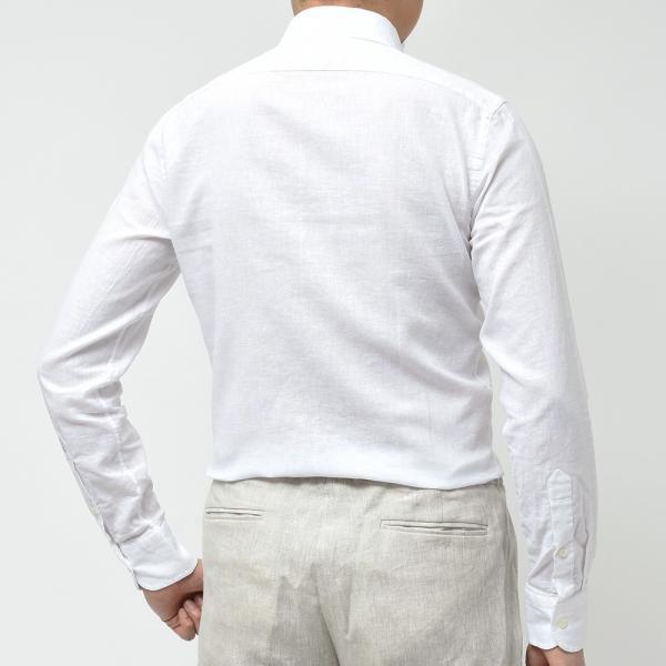 GUY ROVER ギローバー リネン コットン ソリッド イタリアンカラーシャツ|realclothing|09