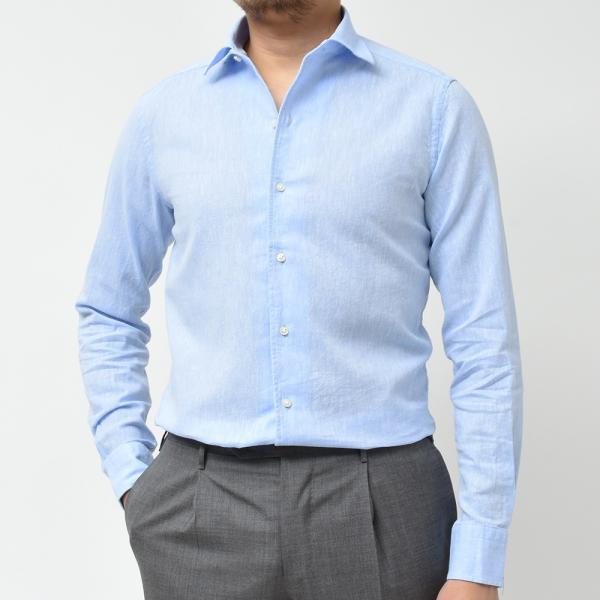 GUY ROVER ギローバー リネン コットン ソリッド イタリアンカラーシャツ|realclothing|10
