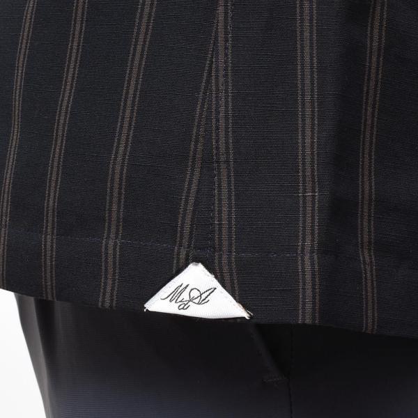 Massimo d'Augusto マッシモ ダウグスト LEO コットン リネン ストライプ イタリアンカラー ショートスリーブ シャツ|realclothing|06