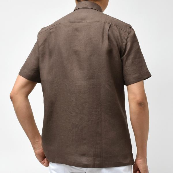 Massimo d'Augusto マッシモ ダウグスト LEO リネン イタリアンカラー ショートスリーブ シャツ|realclothing|03