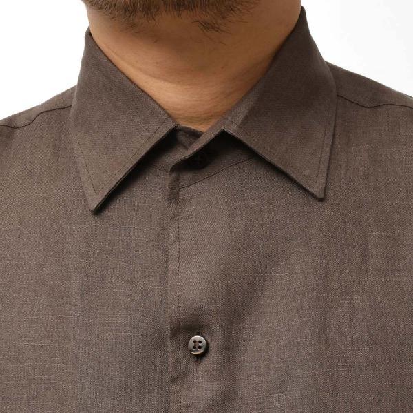 Massimo d'Augusto マッシモ ダウグスト LEO リネン イタリアンカラー ショートスリーブ シャツ|realclothing|04
