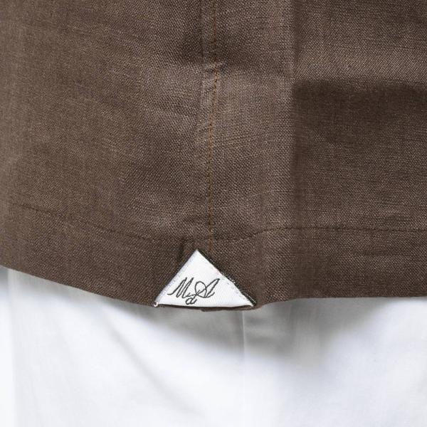 Massimo d'Augusto マッシモ ダウグスト LEO リネン イタリアンカラー ショートスリーブ シャツ|realclothing|06