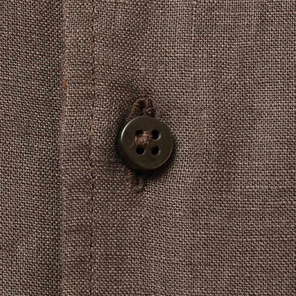 Massimo d'Augusto マッシモ ダウグスト LEO リネン イタリアンカラー ショートスリーブ シャツ|realclothing|07