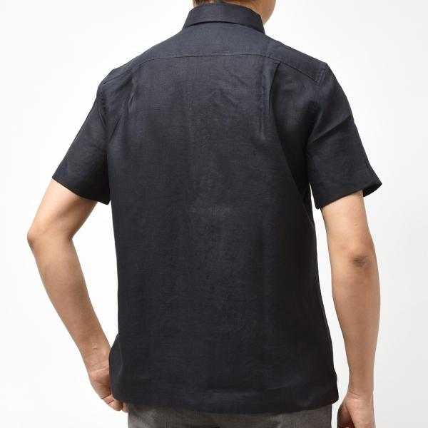 Massimo d'Augusto マッシモ ダウグスト LEO リネン イタリアンカラー ショートスリーブ シャツ|realclothing|09