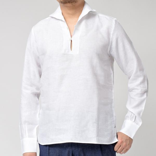 Massimo d'Augusto(マッシモ ダウグスト)ALAMARI リネン カプリシャツ realclothing 14