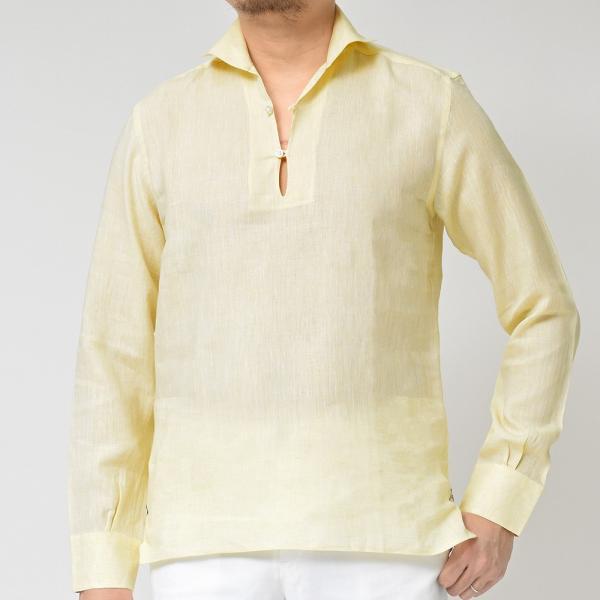 Massimo d'Augusto(マッシモ ダウグスト)ALAMARI リネン カプリシャツ realclothing 15