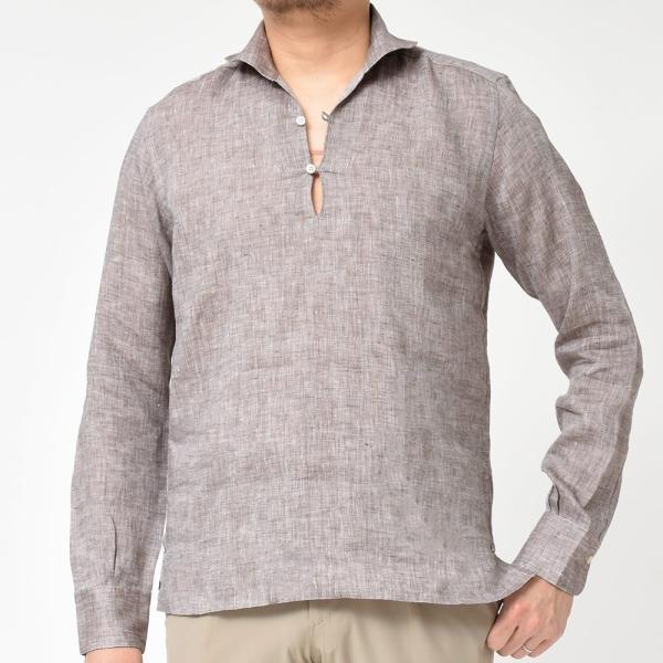 Massimo d'Augusto(マッシモ ダウグスト)ALAMARI リネン カプリシャツ realclothing 18