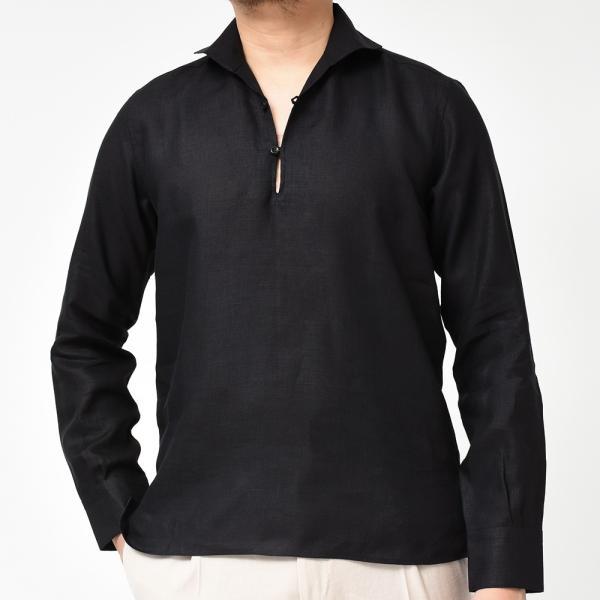Massimo d'Augusto(マッシモ ダウグスト)ALAMARI リネン カプリシャツ realclothing 20