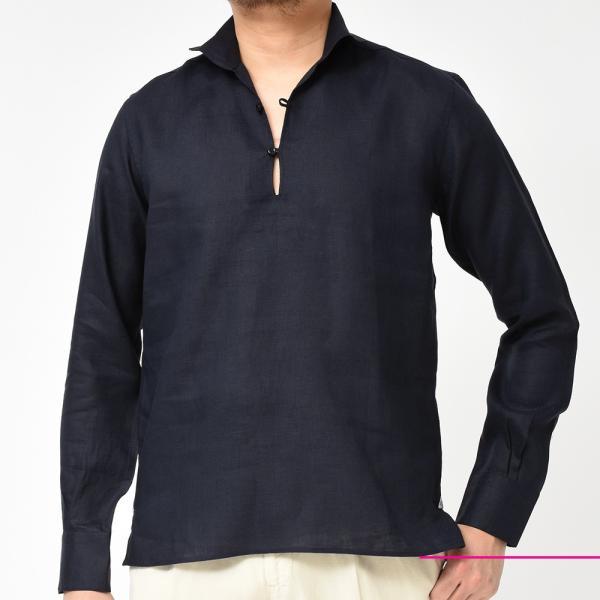 Massimo d'Augusto(マッシモ ダウグスト)ALAMARI リネン カプリシャツ realclothing 10