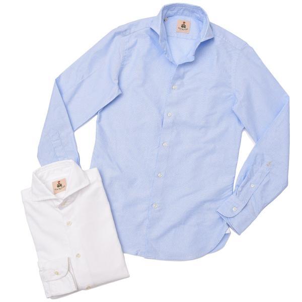GUY ROVER(ギローバー)コットン メッシュ ワイドカラーシャツ|realclothing