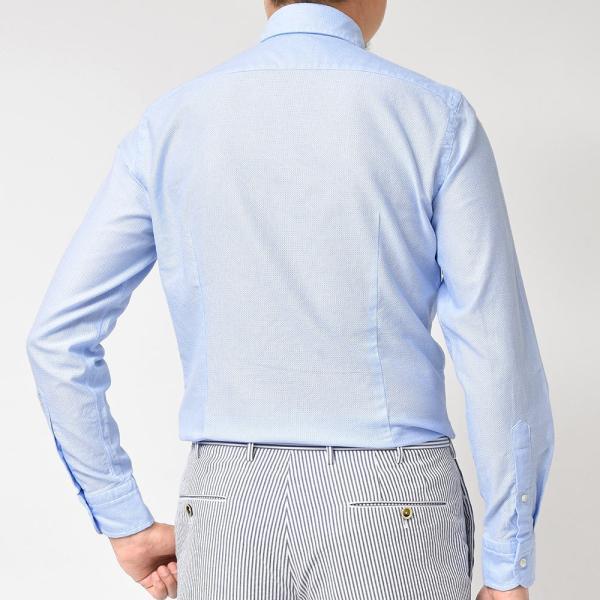 GUY ROVER(ギローバー)コットン メッシュ ワイドカラーシャツ|realclothing|04