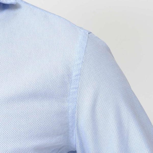 GUY ROVER(ギローバー)コットン メッシュ ワイドカラーシャツ|realclothing|06