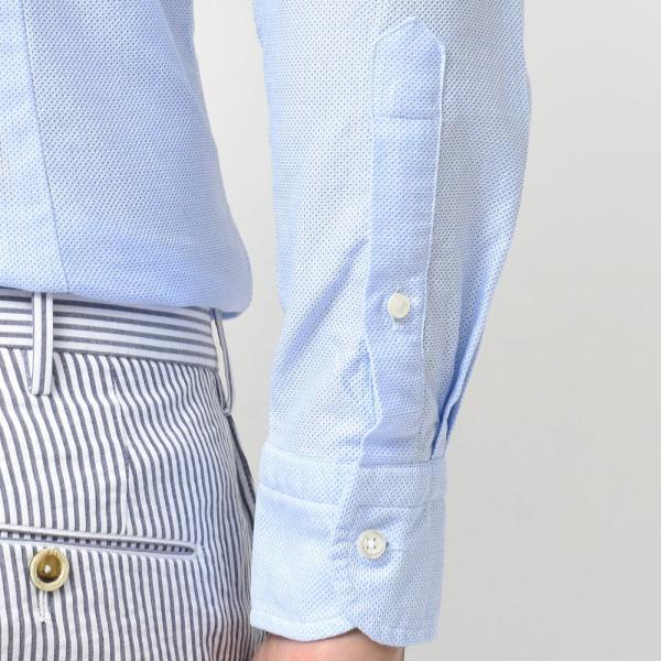 GUY ROVER(ギローバー)コットン メッシュ ワイドカラーシャツ|realclothing|07