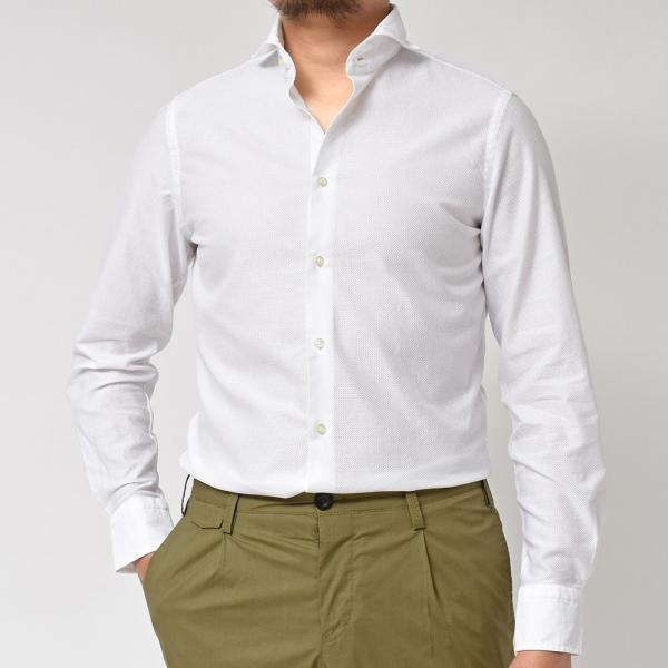 GUY ROVER(ギローバー)コットン メッシュ ワイドカラーシャツ|realclothing|09