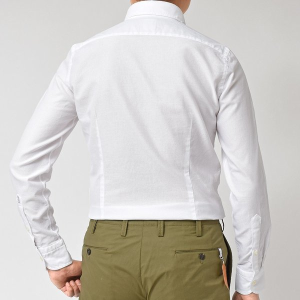 GUY ROVER(ギローバー)コットン メッシュ ワイドカラーシャツ|realclothing|10