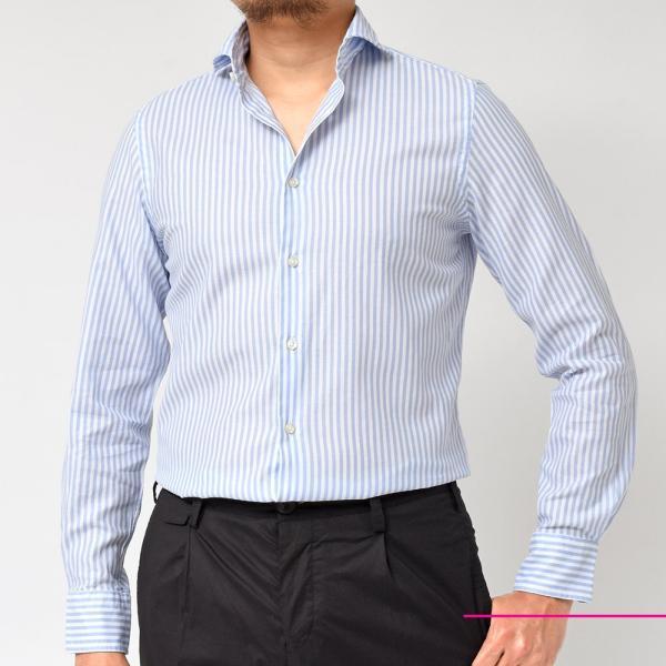 GUY ROVER(ギローバー)コットン メッシュ ストライプ ワイドカラーシャツ realclothing 03