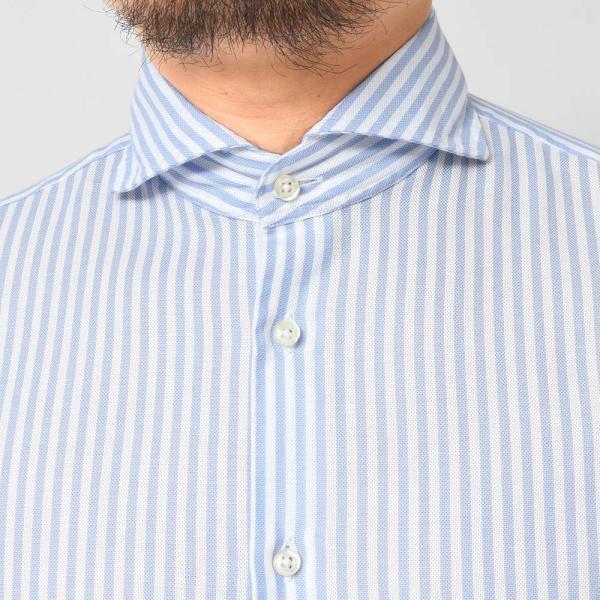 GUY ROVER(ギローバー)コットン メッシュ ストライプ ワイドカラーシャツ realclothing 05