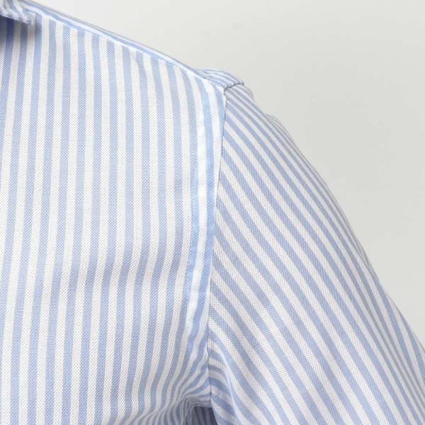GUY ROVER(ギローバー)コットン メッシュ ストライプ ワイドカラーシャツ realclothing 06