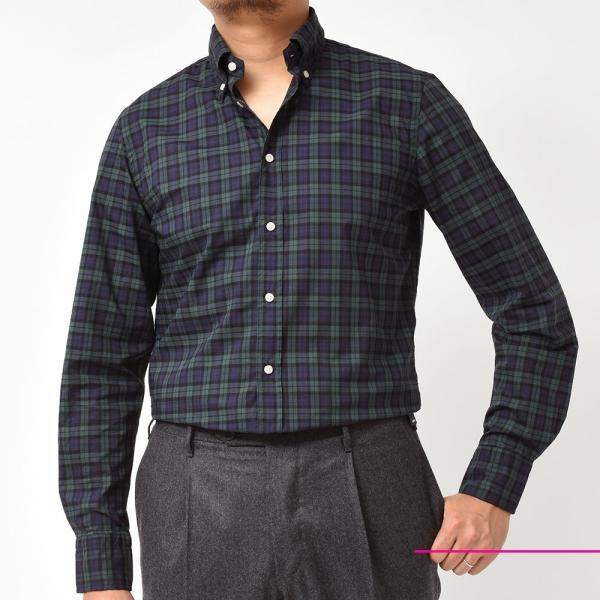 GUY ROVER(ギローバー)コットン タータンチェック ボタンダウンカラーシャツ realclothing 03