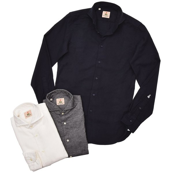 GUY ROVER(ギローバー)コットン ライトフランネル ワイドカラーシャツ|realclothing