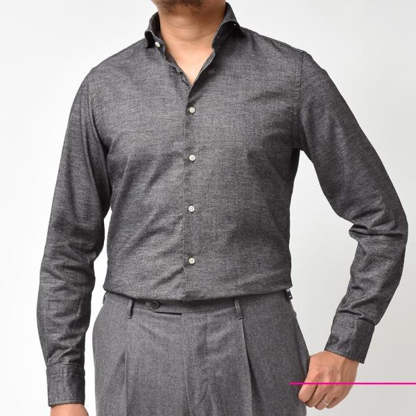 GUY ROVER(ギローバー)コットン ライトフランネル ワイドカラーシャツ|realclothing|03