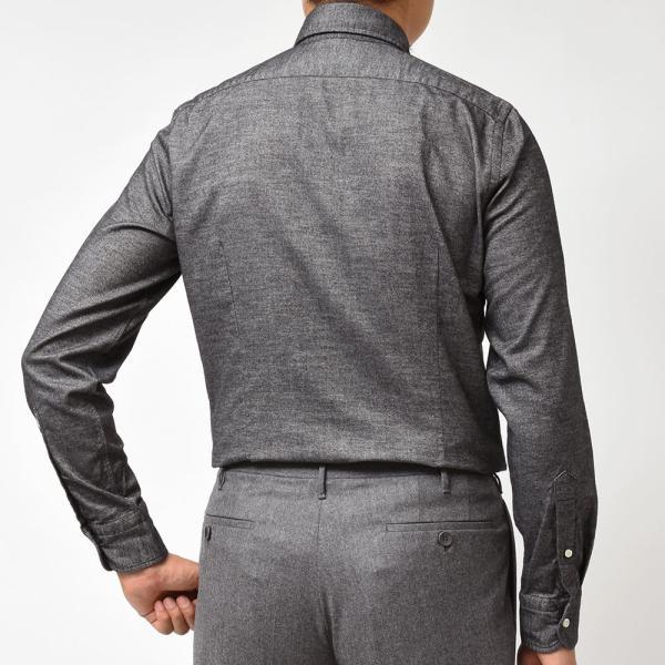 GUY ROVER(ギローバー)コットン ライトフランネル ワイドカラーシャツ|realclothing|04