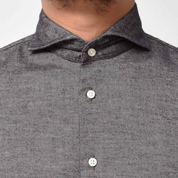 GUY ROVER(ギローバー)コットン ライトフランネル ワイドカラーシャツ|realclothing|05