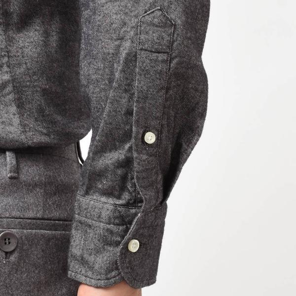 GUY ROVER(ギローバー)コットン ライトフランネル ワイドカラーシャツ|realclothing|07