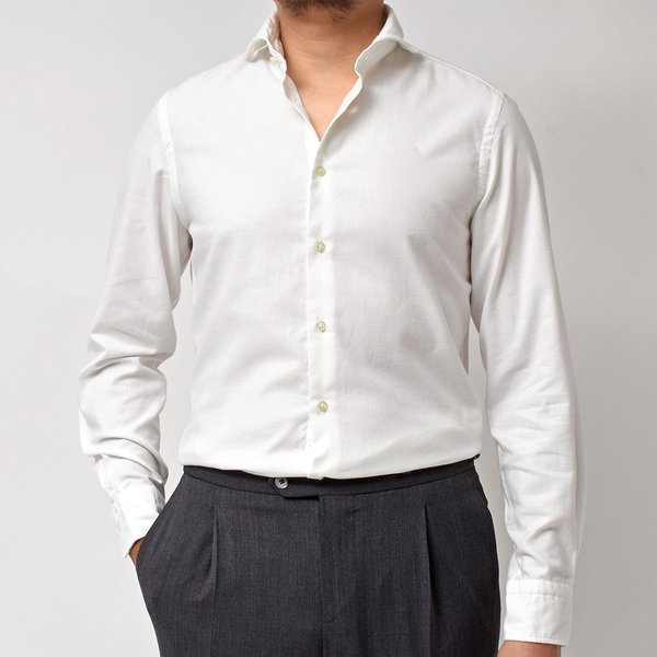GUY ROVER(ギローバー)コットン ライトフランネル ワイドカラーシャツ|realclothing|09