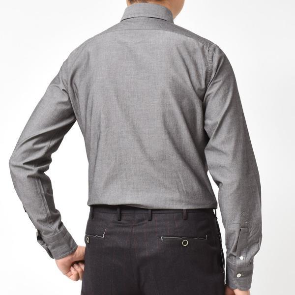 BOLZONELLA(ボルゾネッラ)コットン シャンブレー レギュラーカラー ブザムシャツ realclothing 04