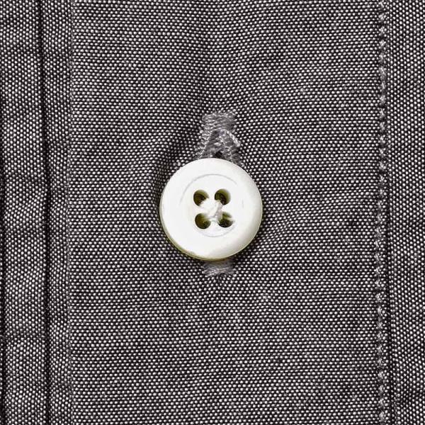 BOLZONELLA(ボルゾネッラ)コットン シャンブレー レギュラーカラー ブザムシャツ realclothing 08