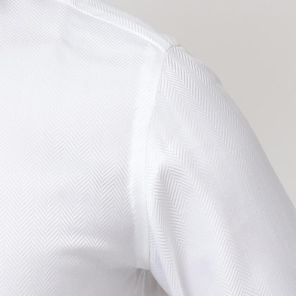Stile Latino(スティレ ラティーノ)コットン ヘリンボーン ワイドカラー ドレスシャツ realclothing 06