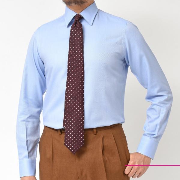 Stile Latino(スティレ ラティーノ)コットン ジャガード ワイドカラー ドレスシャツ|realclothing|03