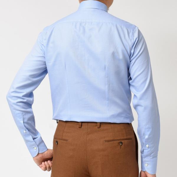 Stile Latino(スティレ ラティーノ)コットン ジャガード ワイドカラー ドレスシャツ|realclothing|04