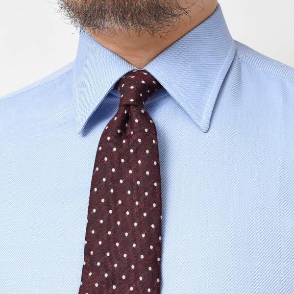 Stile Latino(スティレ ラティーノ)コットン ジャガード ワイドカラー ドレスシャツ|realclothing|05