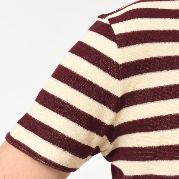 Stile Latino(スティレ ラティーノ)コットン パイル ボーダー ショートスリーブ ポロシャツ|realclothing|06