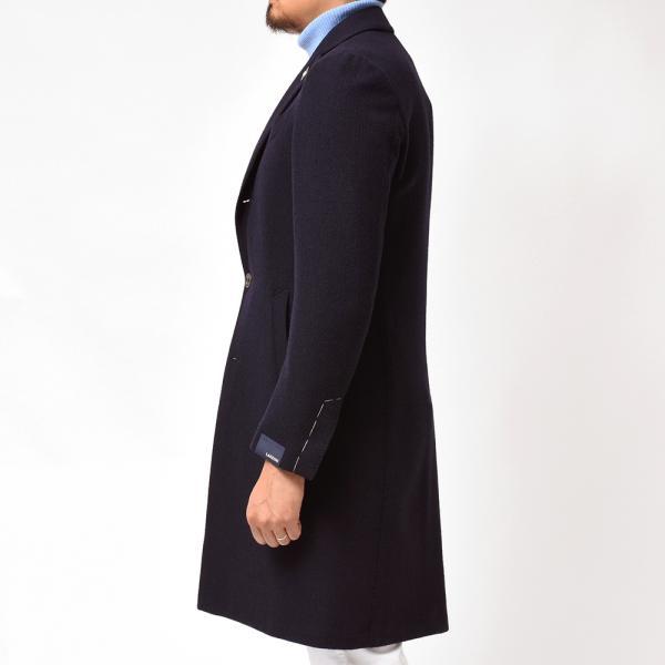 LARDINI(ラルディーニ)ウール カシミヤ ジャガードストライプ シングル3Bチェスターコート|realclothing|06