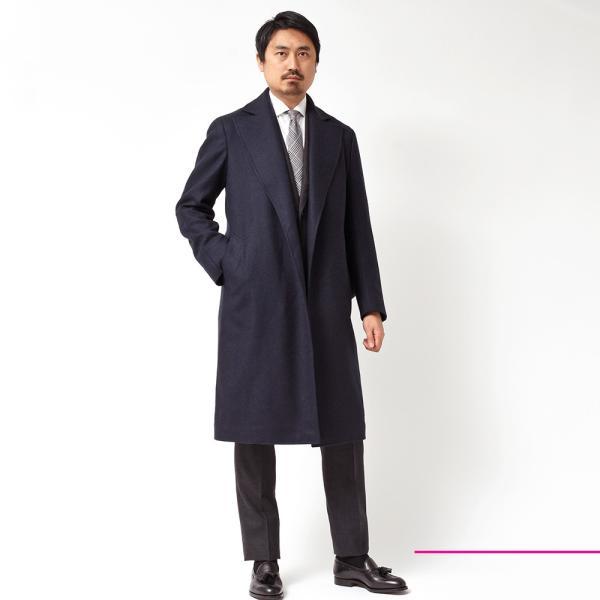 Stile Latino スティレ ラティーノ EDIPO ヴァージンウール カシミア ツイル ベルテッド ロブコート|realclothing|02