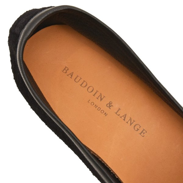 BAUDOIN&LANGE(ボードイン アンド ランジ)TASSEL LOFER ディアナッパ×ゴートスエード タッセル ベルジャンシューズ realclothing 17