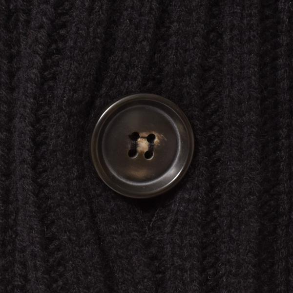 Settefili Cashmere(セッテフィーリ カシミア)ウール カシミヤ ケーブル ショールカラー カーディガン realclothing 08