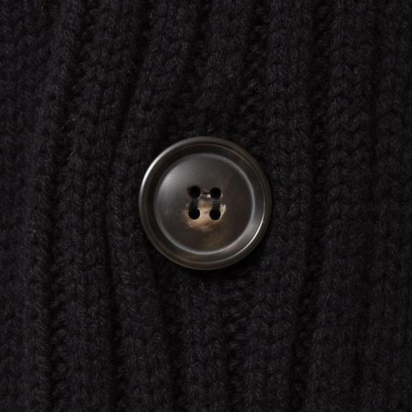 Settefili Cashmere(セッテフィーリ カシミア)ウール カシミヤ ケーブル ショールカラー ロングカーディガン realclothing 15