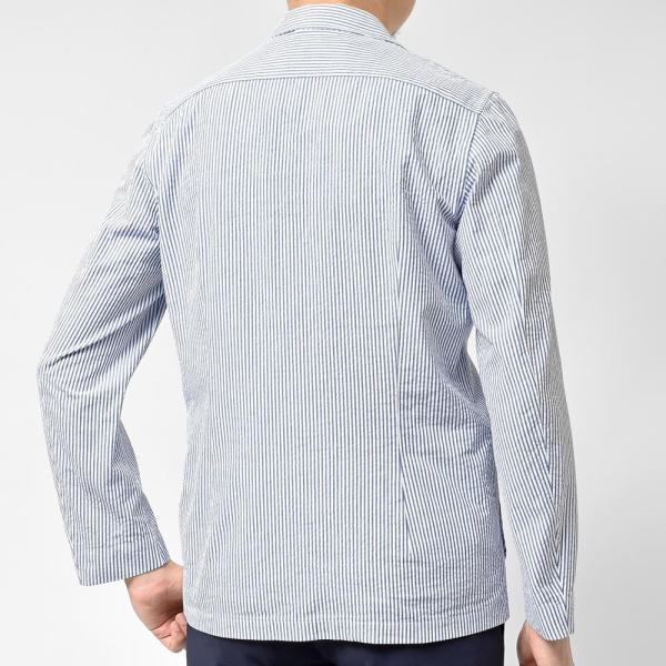 LARDINI ラルディーニ AMAJ コットン シアサッカー ストライプ シングル2Bシャツジャケット realclothing 04
