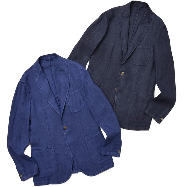 Matteucci マテウッチ MONZA リネン ソリッド シングル2Bシャツジャケット|realclothing