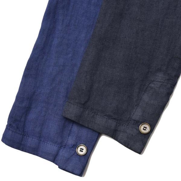 Matteucci マテウッチ MONZA リネン ソリッド シングル2Bシャツジャケット|realclothing|11