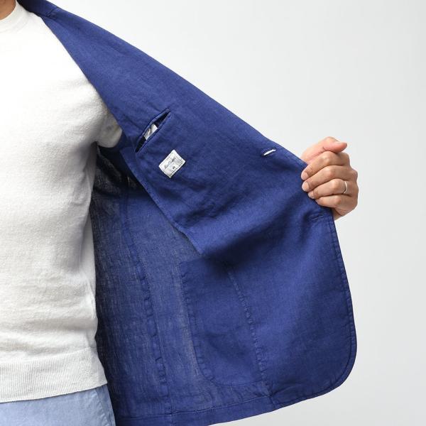 Matteucci マテウッチ MONZA リネン ソリッド シングル2Bシャツジャケット|realclothing|06