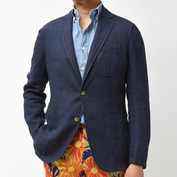 Matteucci マテウッチ MONZA リネン ソリッド シングル2Bシャツジャケット|realclothing|09