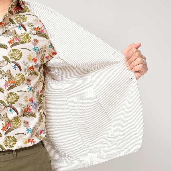 LARDINI(ラルディーニ)コットン シアサッカー ストライプ シングル2Bシャツジャケット|realclothing|07