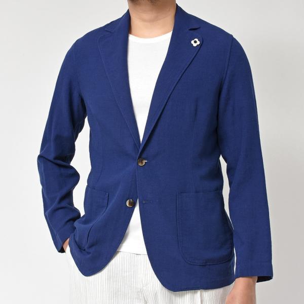 LARDINI(ラルディーニ)コットン リネン シングル2Bシャツジャケット realclothing 04